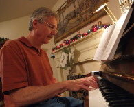 My brother David at the piano